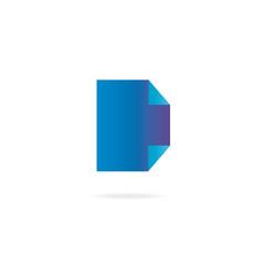 letter d logo design template elements paper vector image