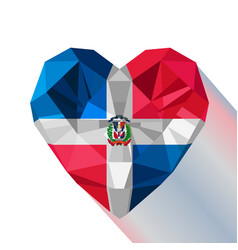 Logo symbol of love the dominican republic vector
