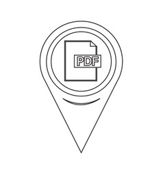 map pointer pdf icon vector image
