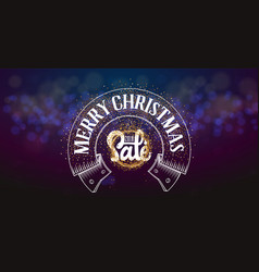 merry christmas sale on the background light bokhe vector image