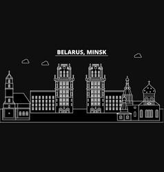 Minsk silhouette skyline belorussia - minsk vector