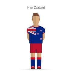 New zealand football player soccer uniform vector