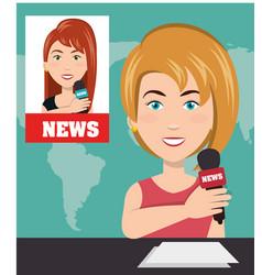 news presenter avatar character vector image