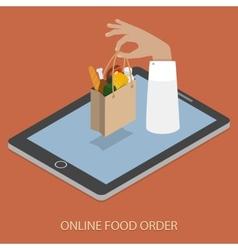Online Foood Ordering Concept vector image