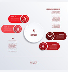 process chart template for presentation 4 option vector image