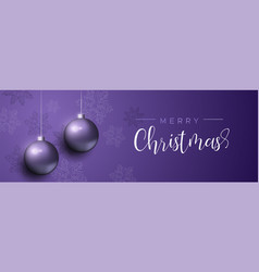 purple christmas luxury bauble ornament banner vector image