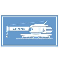 Rail Crane vector image