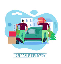 reliable delivery concept vector image