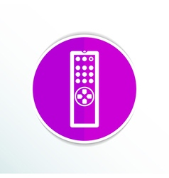 Remote control tv icon isolated media vector image