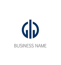 round line business company logo vector image