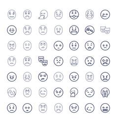 Sad icons vector