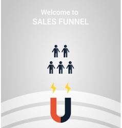 sales funnel concept vector image