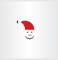 santa logo icon symbol element vector image