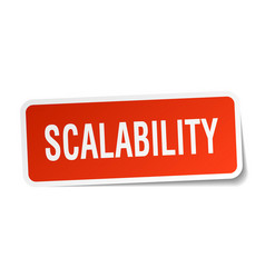 Scalability square sticker on white vector