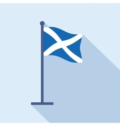 Scotland national flag flat icon vector