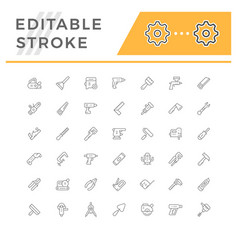 Set line icons tool vector