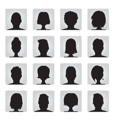 Set of colorful user profile vector