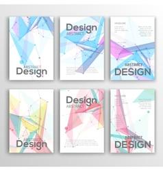 Set of Flyer Brochure Design Templates Geometric vector image