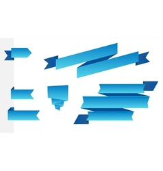 Set of modern blue ribbons vector image