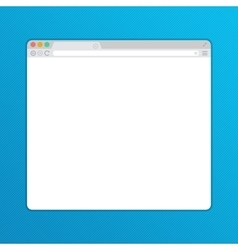 Simple web browser window vector image