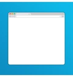 Simple web browser window vector