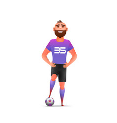 soccer cool soccer football player vector image