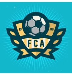 Soccer Emblem Design Football Badge Template vector