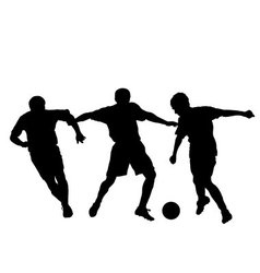 Soccer silhouette vector image vector image