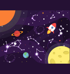 space background colorful galaxy with nebula vector image