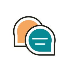speech bubble web development icon line and fill vector image