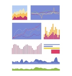 Statistic Graphic Element Collection vector