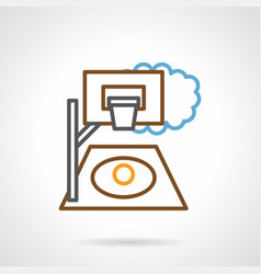 street basketball court simple line icon vector image