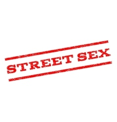 Street Sex Watermark Stamp vector image