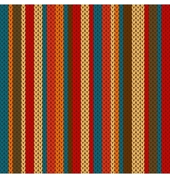 Striped pattern on wool knitted texture vector