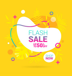 Summer sale lettering template banner in yellow vector