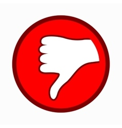 Thumb down icon simple style vector image