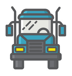 truck filled outline icon transport and vehicle vector image