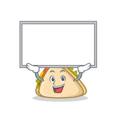 Up board sandwich character cartoon style vector