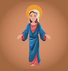 Virgin mary spiritual prayer vector