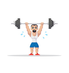 Weight lifting athlete vector