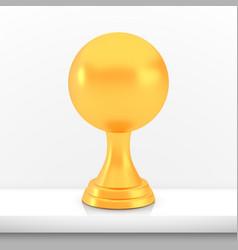 Winner sphere cup award golden trophy logo vector
