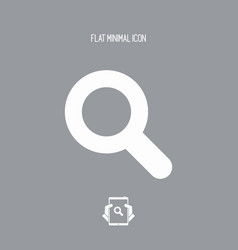 zoom - flat minimal icon vector image