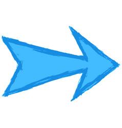 arrow symbol hand drawn brush stroke vector image