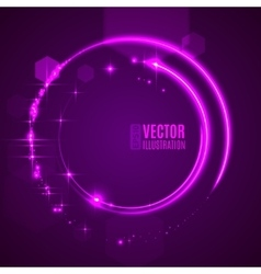 Energy abstract glow light circles vector image