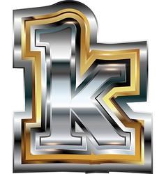 Fancy font Letter k vector image