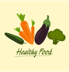 healthy food set vector image