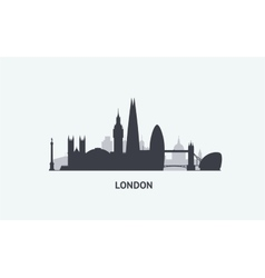 London skyline silhouette vector image vector image