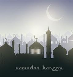 Ramadan landscape background vector image vector image