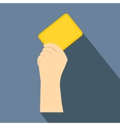 Referee showing yellow card flat icon vector image