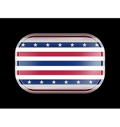 Stars and stripes flag rectangular shape vector